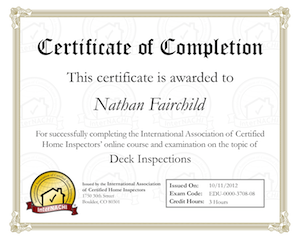Deck Inspections