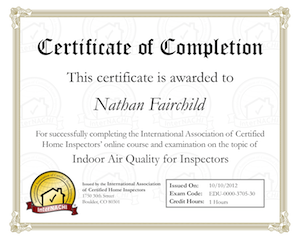 Indoor Air Quality for Inspectors