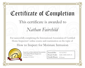 How to Inspect for Moisture Intrusion Final Exam